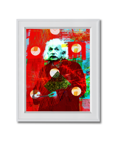 Albert Einstein in Red