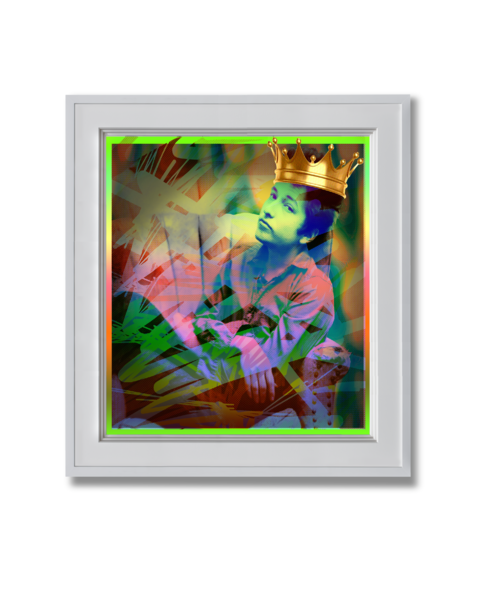 Fine art photograph bob dylan with a crown