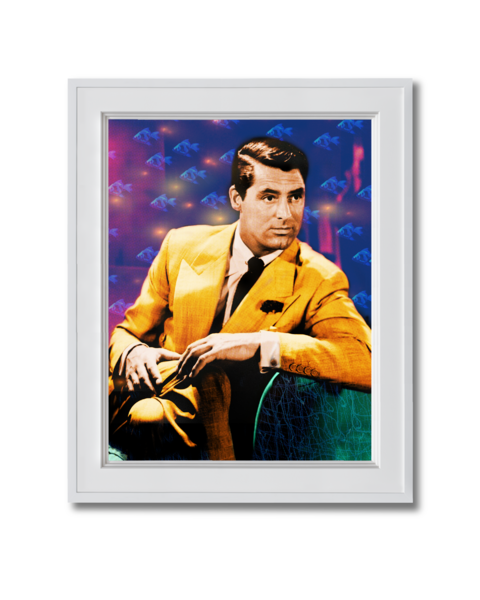 Fine art photograph cary grant with goldfish