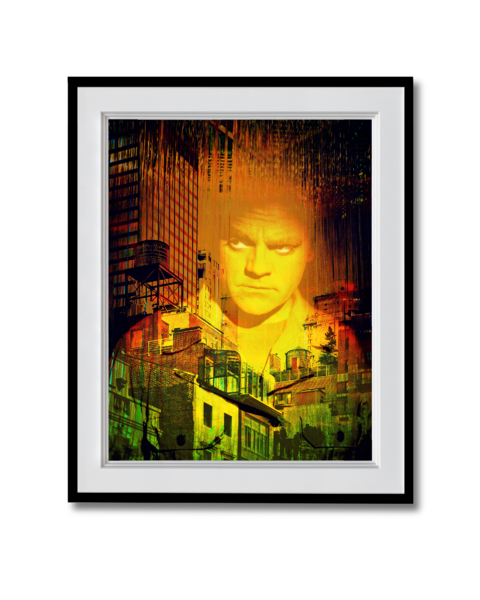 Fine art photograph of james cagney in the city