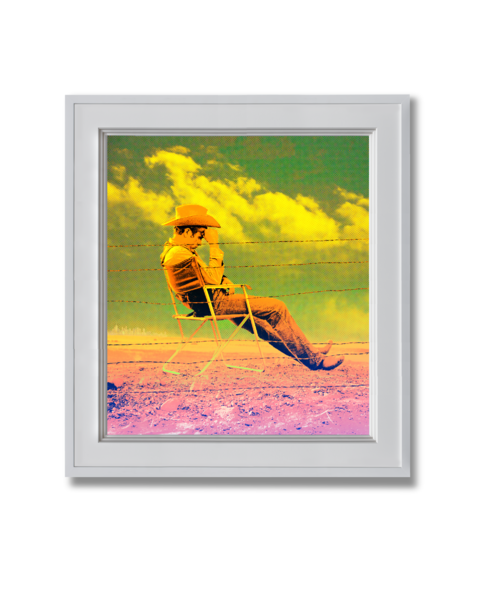 Fine art photograph james dean set of giant yellow and pink
