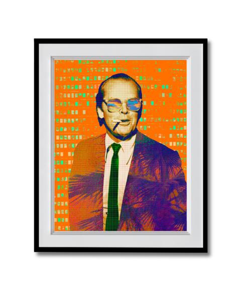 Fine art photograph jack nicholson orange