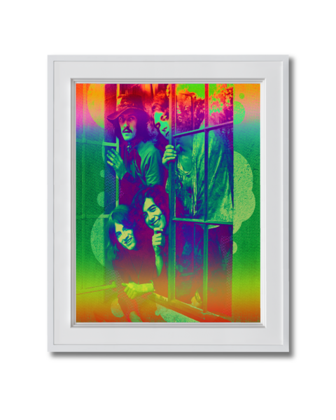 Fine art photograph Led Zeppelin Hanging out of window
