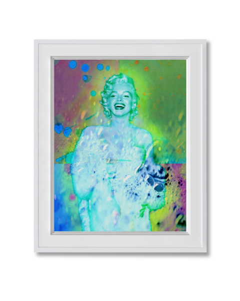 Fine art photograph marilyn monroe with bubbles
