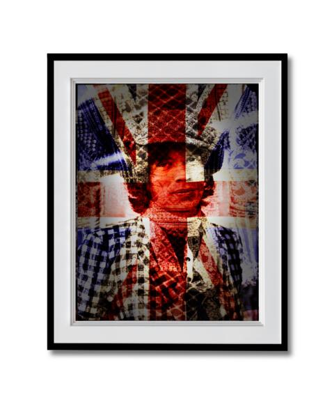 Fine art photograph Mick Jagger union jack