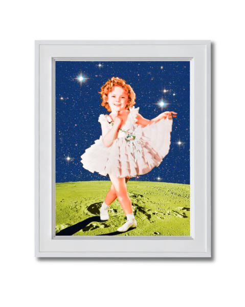 Fine art photograph Shirley Temple on the Moon