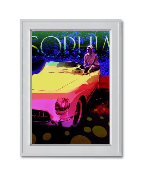 Fine art photograph Sophia Loren in her corvette