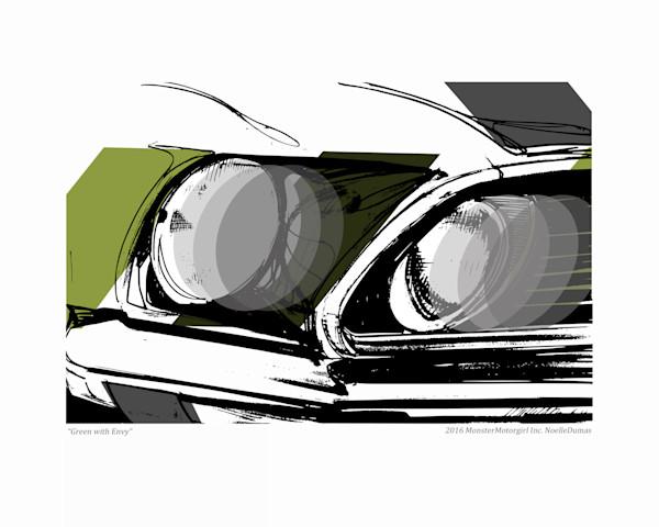 69 Mustang green
