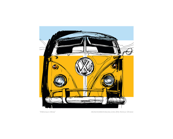 Vw bus front yellow