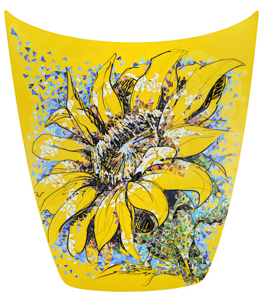 Sunflower abstract art painting
