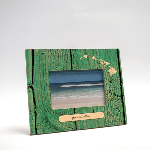 8x10 Personalized Picture Frame   Distressed Teal