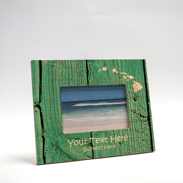 8x10 Personalized Picture Frame | Distressed Teal II