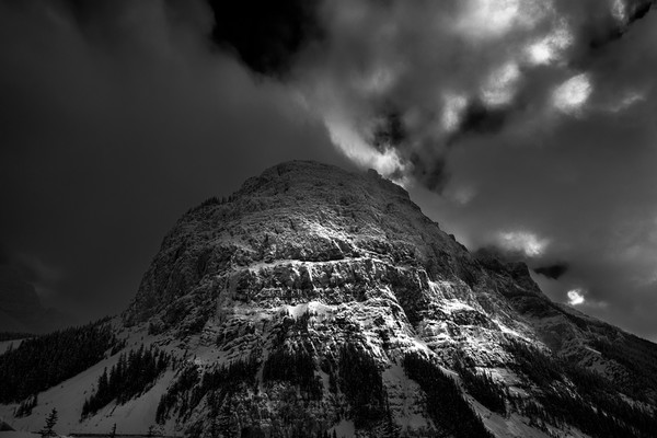 Mt. Stephen in afternoon Winter Sun |Canadian Rockies | Banff National Park | Rocky Mountains|