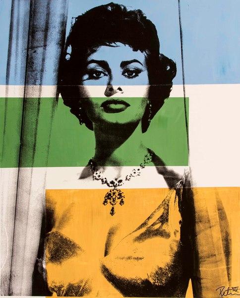Fine art photograph a peter tunny photo. Sophia Loren portrait fine