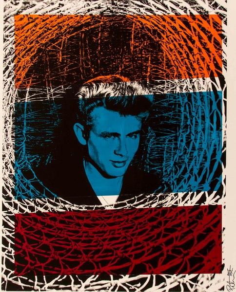 Fine art photograph a peter tunny photo. James Dean wicker portrait