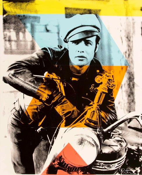 Fine art photograph a peter tunny photo. Marlon Brando Motorcycle