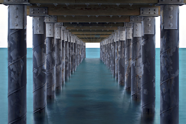 """Under the Pier"" Martha's Vineyard seascape art photography"