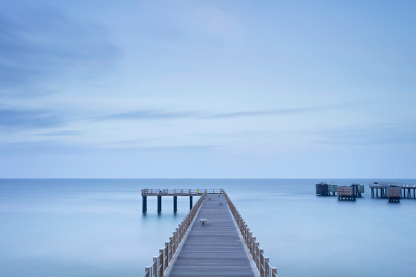 """Dusk on the Pier II"" Oak Bluffs Martha's Vineyard fishing pier photograph"