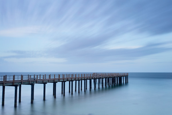 """Dusk on the Pier"" Fine art Martha's Vineyard seascape photograph"