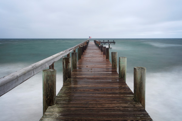 """East Chop Storm"" Oak Bluffs Martha's Vineyard pier photograph"