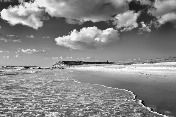 Toward moshup black and white marthas vineyard beach photograph