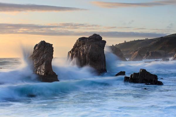 """Splash Boom"" Large Big Sur California beach photograph"