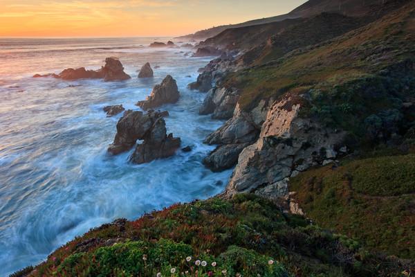 """Soberanes Arch Sunset"" Large Big Sur California seascape photography"