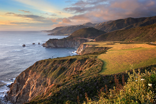 """Hurricane Point Sunset"" Big Sur California seascape wall art"