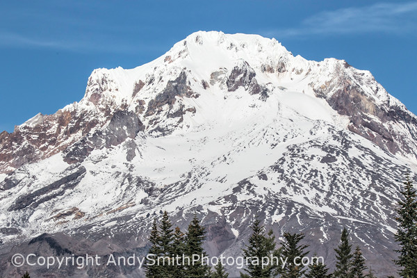 Fine Art Photograph of Mount Hood Summit from Mirror Lake