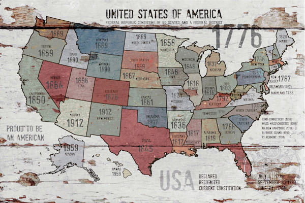 24x36 The United States of America Map II