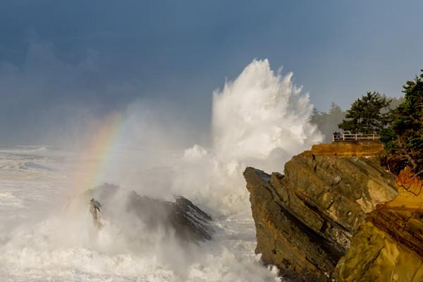 Crashing waves along the Oregon Coast.