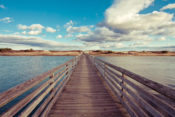 """Bridge to the Beach"" Ogunquit Maine fine art seascape photograph"