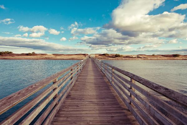 """Bridge to the Beach"" Ogunquit Maine fine art seascape photograph"