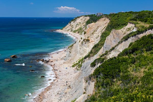 """""""Mohegan Bluffs Afternoon"""" Block Island Rhode Island fine art beach photograph"""