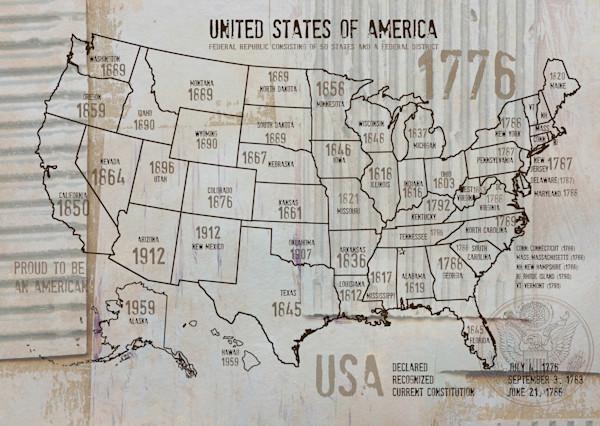 ORL-2988-30-1 USA Map 1776-30-1