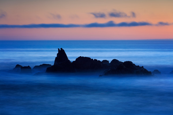 """Bird Rock Sunset"" Big Sur California Seascape Photography"