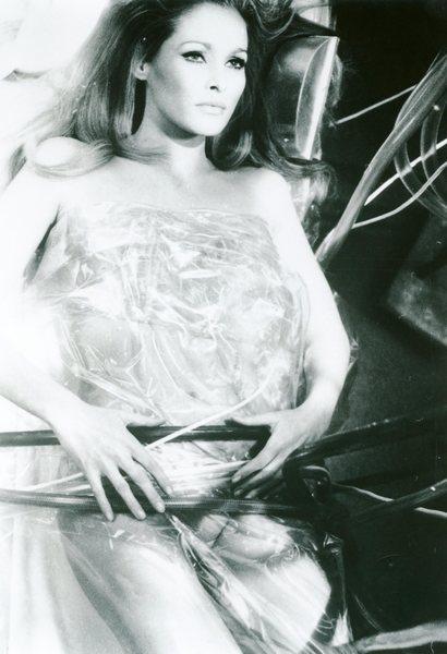 Original Vintage Press Print Ursula Andres Posing