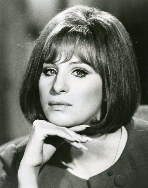 Original Vintage Press Print Barbara Streisand Portrait