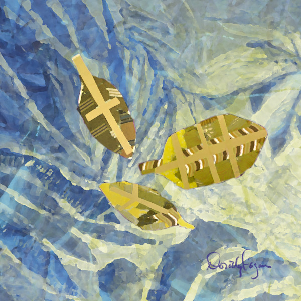 Peace Fern Navy with Gold   Noah's Children Collection