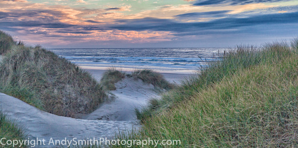 fine art photograph of Sunset on the Beach at Nehalem