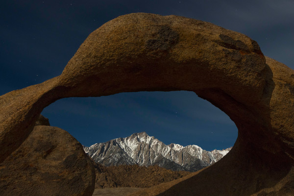 Moonlight Shines On Mobius Arch photograph for sale as art.