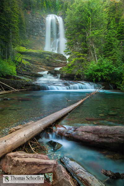 Waterfalls of Glacier National Park/Virginia Falls Fine Art prints by Thomas Schoeller photography