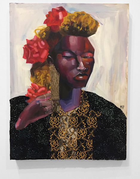 Complicated Queendom Painting by Angela Davis Johnson.