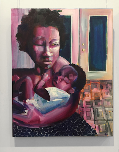 When Clinging Looks Like Holding On Painting by Angela Davis Johnson.