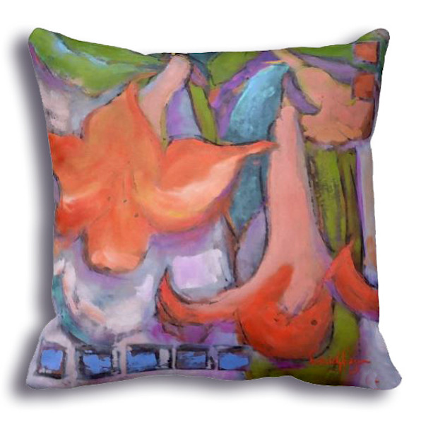 Lyric Dance Fabric Set | Orange LIlly Pillow Fabrics | Dorothy Fagan Collection