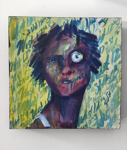 Faces c. 2013 Painting by Angela Davis Johnson.