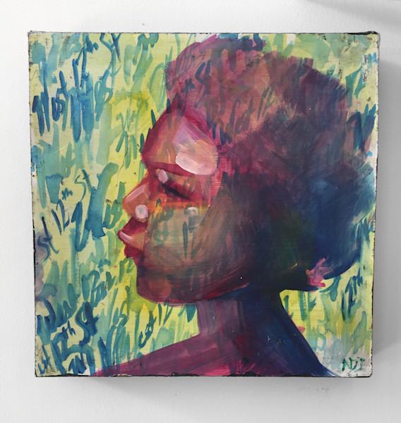 Faces c. 1996 Painting by Angela Davis Johnson.