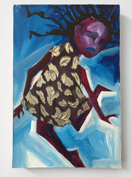 When Falling Looks Like Flying Painting by Angela Davis Johnson.