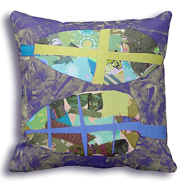 Gratitude Purple Leaf Fabric Ensemble | Dorothy Fagan Collection