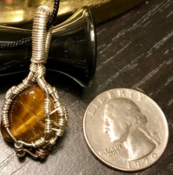 Tiger eye pendant for sale on line at Intuitive Creations by Christina Culverhouse